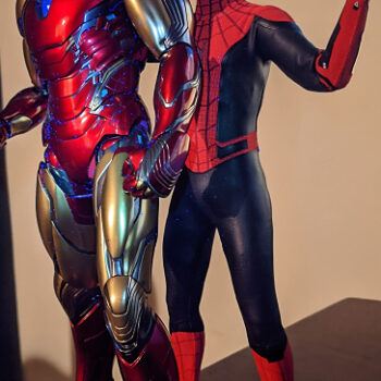 Iron Man and Spider-Man Sixth Scale Figures