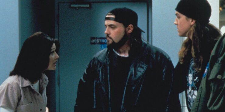 Shannon Doherty, Kevin Smith, and Jason Mewes in Mallrats