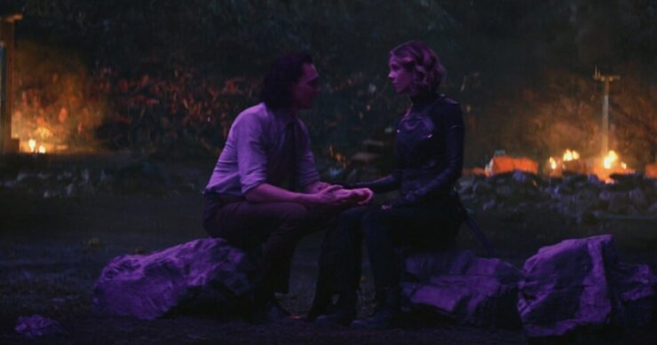 Loki and Sylvie during the Nexus Event of episode 4