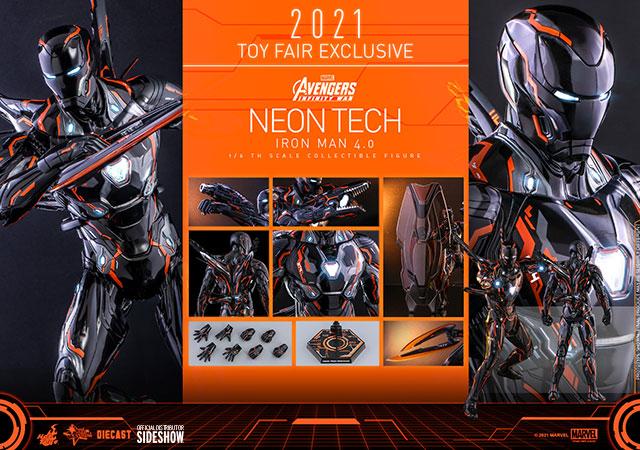 Neon Tech Iron Man Marvel Hot Toys Accessories