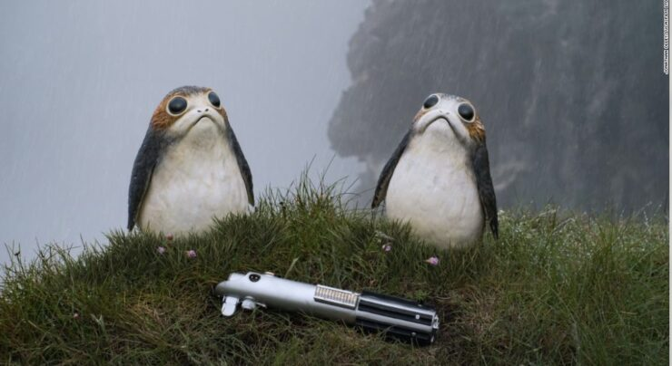 Ahch-To is a remote island planet home to the adorable Porgs
