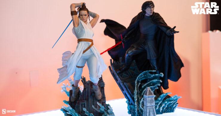 STAR WARS Rey & Kylo Ren Premium Format Figures by Sideshow