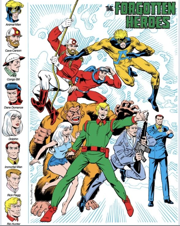 The Forgotten Heroes featured a pre-Suicide Squad Rick Flagg