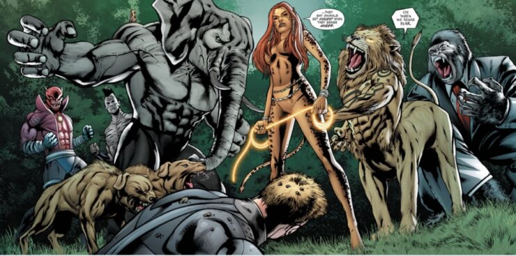 The Menagerie, an ensemble of super-villains on the wild side