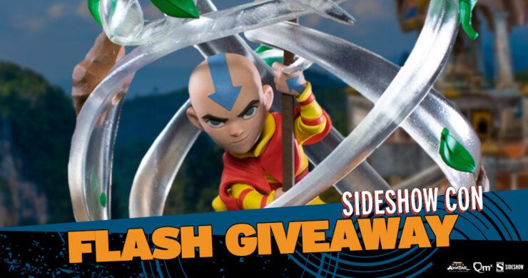 Sideshow Con Flash Giveaway Aang Q-Fig Max Elite by Quantum Mechanix