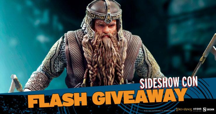 Sideshow Con Flash Giveaway Gimli Deluxe Figure by Iron Studios