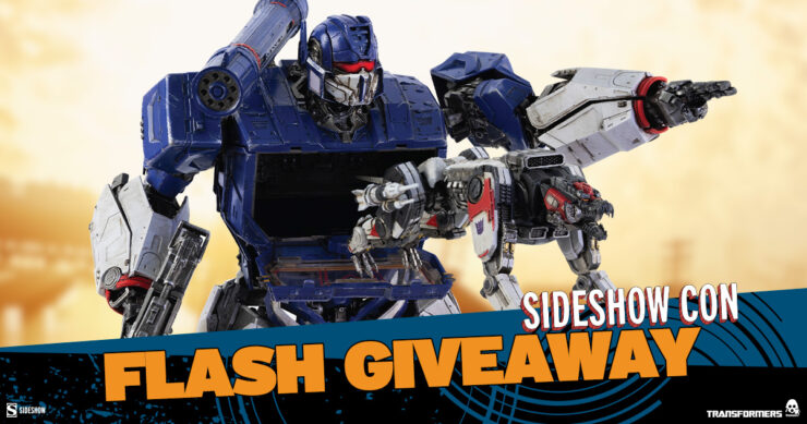 Sideshow Con Flash Giveaway Transformers Soundwave & Ravage Collectible Figure Set by Threezero