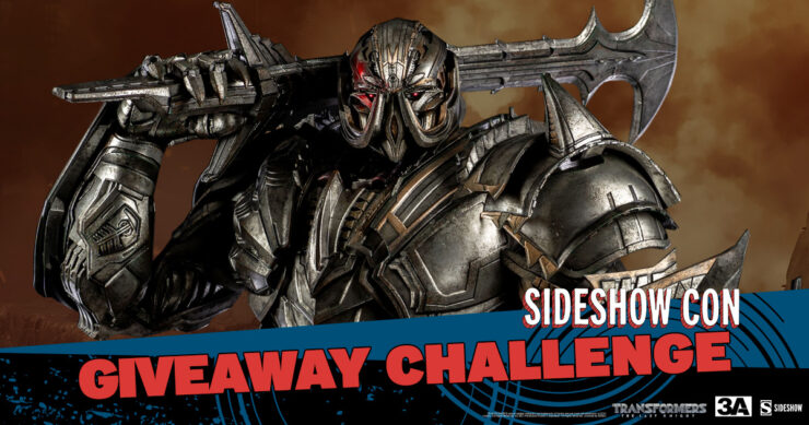 Sideshow Con Giveaway Challenge Megatron Deluxe Version Premium Scale Collectible Figure by ThreeA Toys