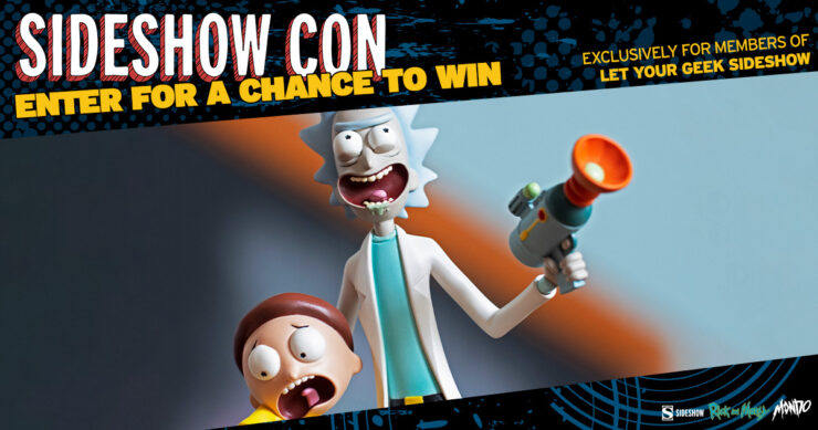Sideshow Con Giveaway LYGSS Rick and Morty Statue Mondo