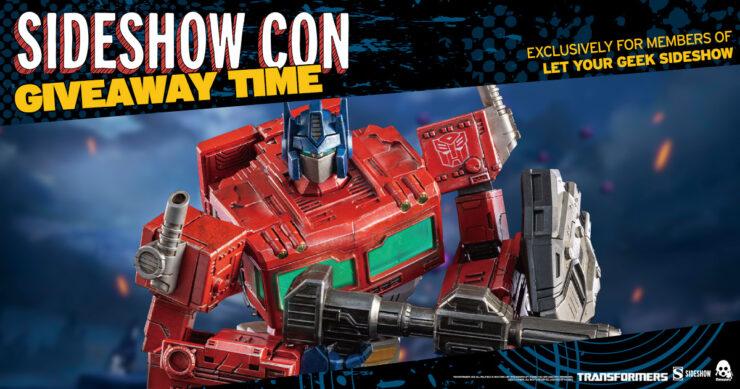 Sideshow Con LYGSS Giveaway Optimus Prime DLX Figure by Threezero