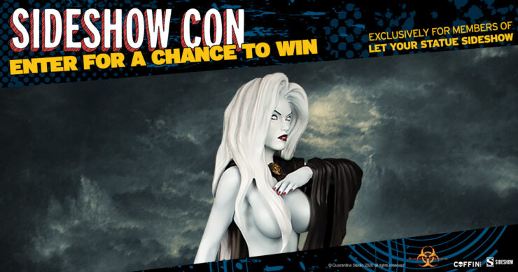 Sideshow Con Let Your Statue Sideshow Giveaway - Lady Death Seductress Statue