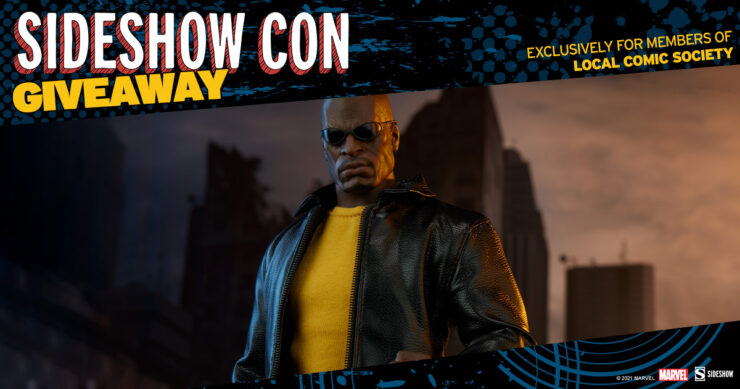 Sideshow Con Local Comics Society Giveaway Luke Cage Sixth Scale