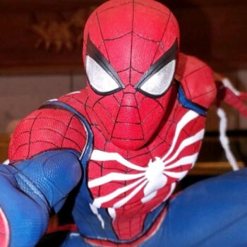 Spider-Man Collectible close up on mask