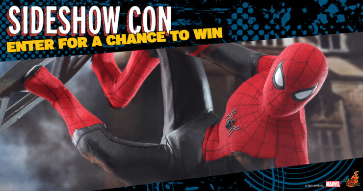 Spider-Man Sixth Scale Hot Toys Sideshow Con giveaway