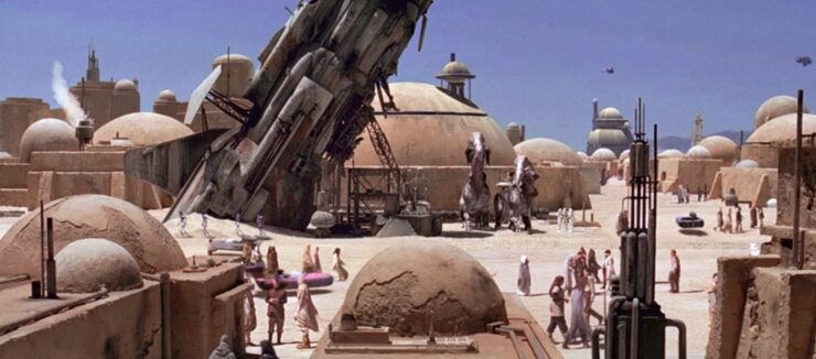 Mos Eisley is one of desert planet Tatooine's busiest spaceports
