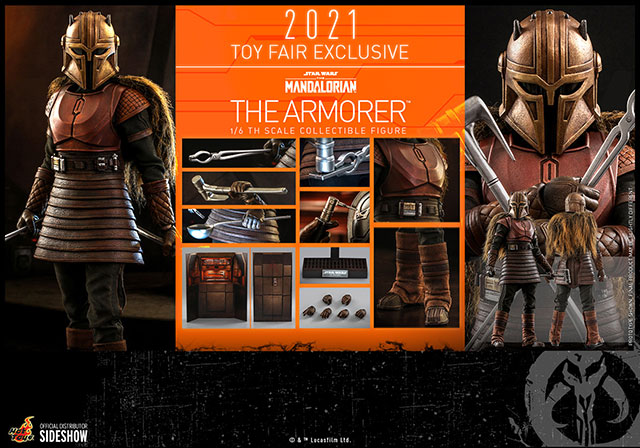 The Armorer The Mandalorian Star Wars Hot Toys Accessories