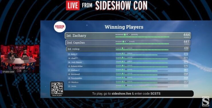 Trivia Live From Sideshow Day 5 Game 2