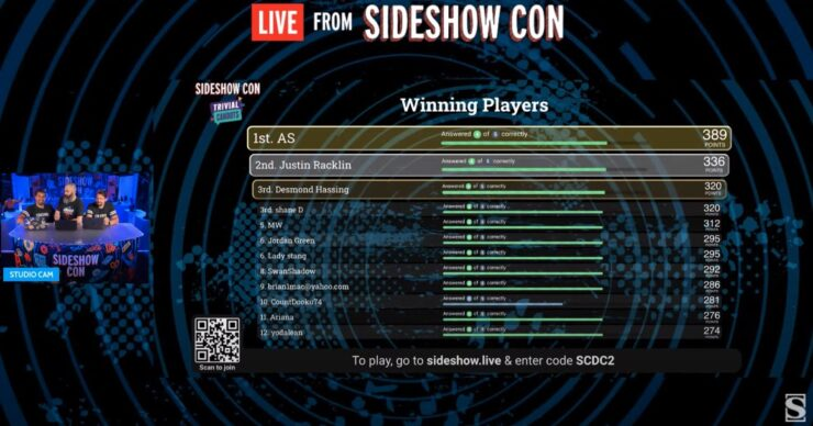 Trivial Cahoots Live From Sideshow Con Day 3