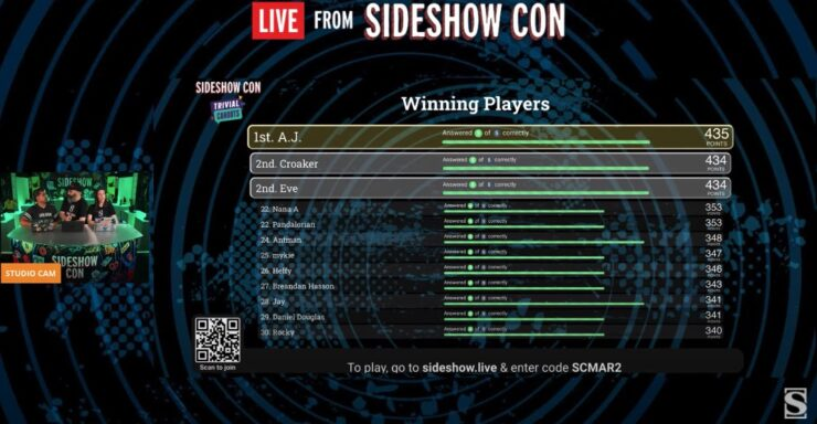 Trivial Cahoots live from sideshow con day 4 part 2