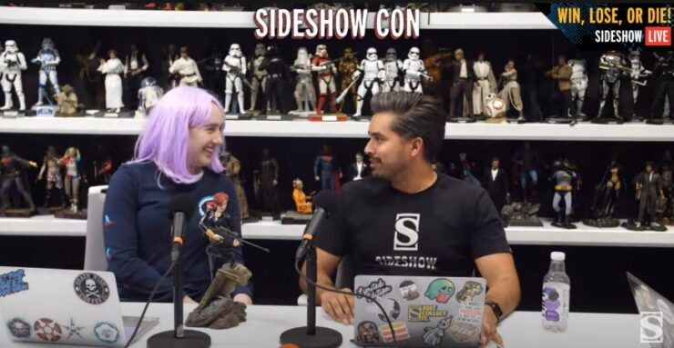 Sideshow Con 2021 Win, Lose, or Die and Sideshow's Black Widow Statue