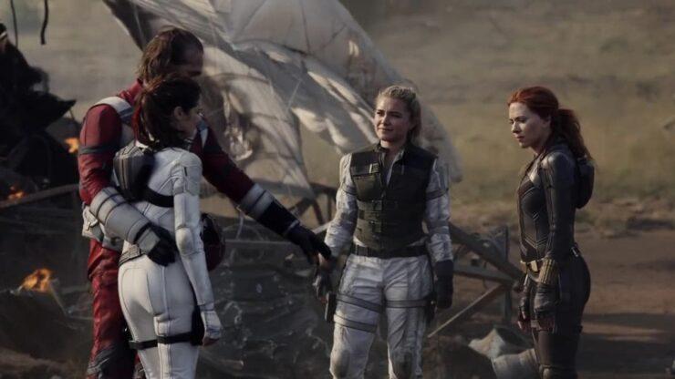 Natasha, Yelena, Melina, and Alexei form a makeshift family in Black Widow