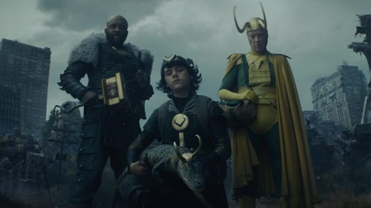 All of the Loki variants during the post-credits scene of Loki episode 4
