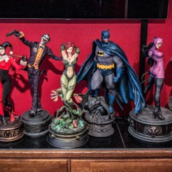 DC Comics Premium Format Figures lined up