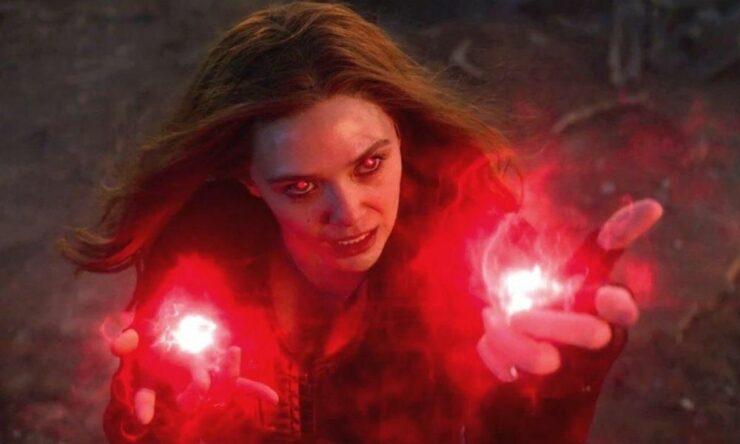 Elizabeth Olsen as Wanda Maximoff/Scarlet Witch in Marvel Studios Avengers Endgame