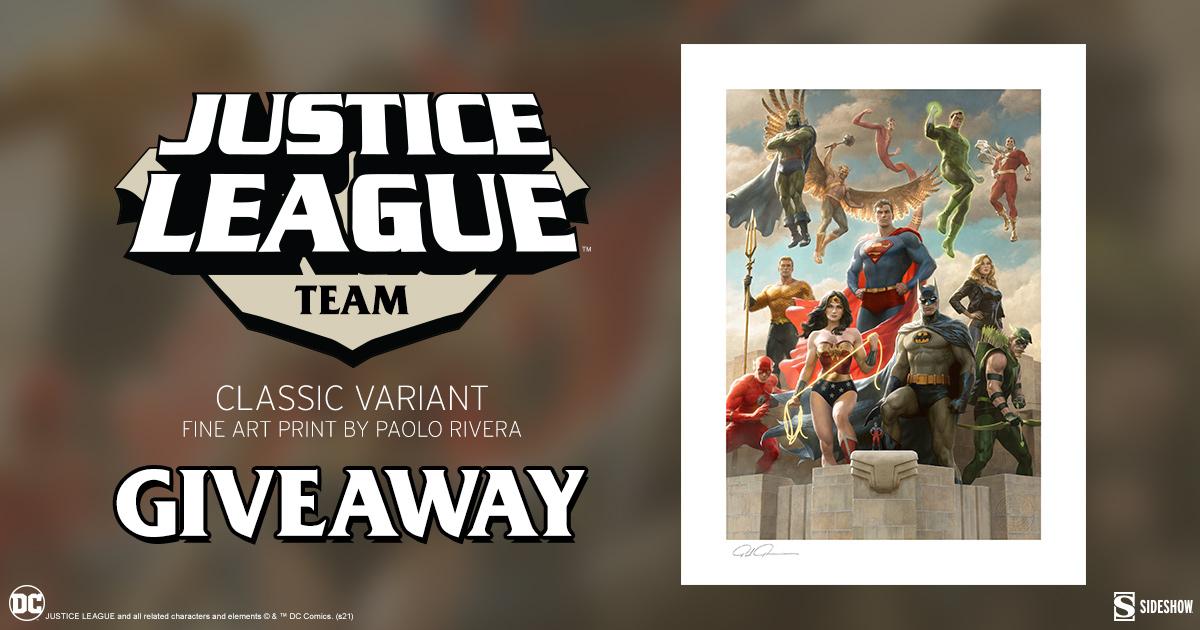 Justice League Team (Classic Variant) Fine Art Print Giveaway