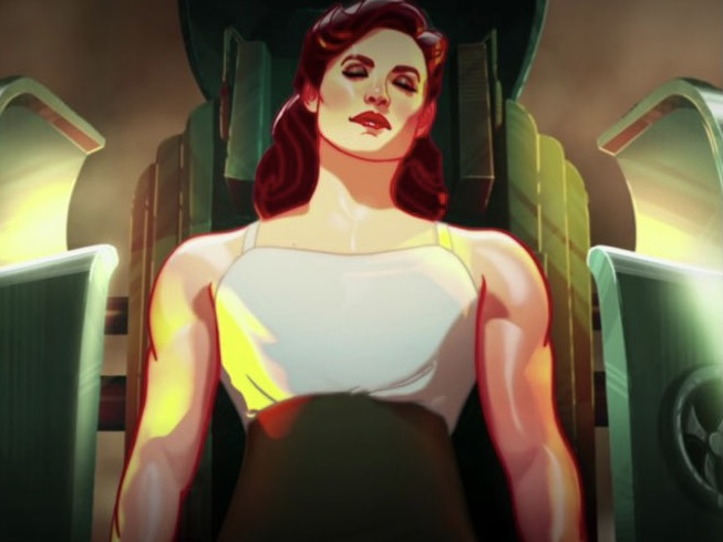 Agent Peggy Carter decides to take the super soldier serum and becomes Captain Carter in the first episode of Marvel's What If...?