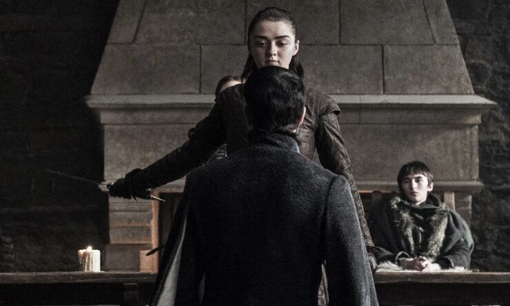 Arya and Sansa finally work together to claim justice for the Stark family, beginning with the execution of Petyr Baelish
