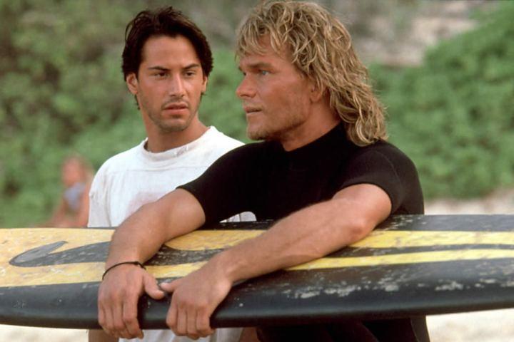 Johnny Utah (Keanu Reeves) and Bodhi (Patrick Swayze) in Point Break
