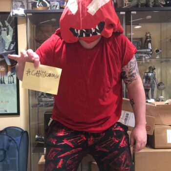 Let Your Geek Sideshow Facebook Group member Colin B.'s cobbled Carnage costume