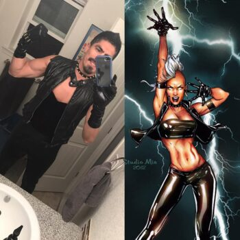Let Your Geek Sideshow Facebook Group member Edy M.'s Storm cosplay