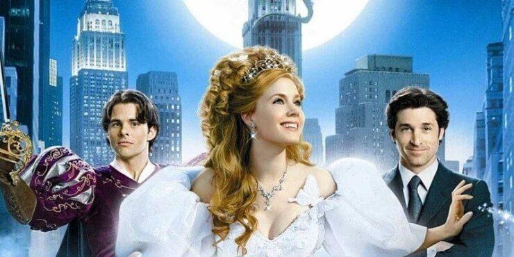 Enchanted Movie Poster- James Marsden, Amy Adams, Patrick Dempsey