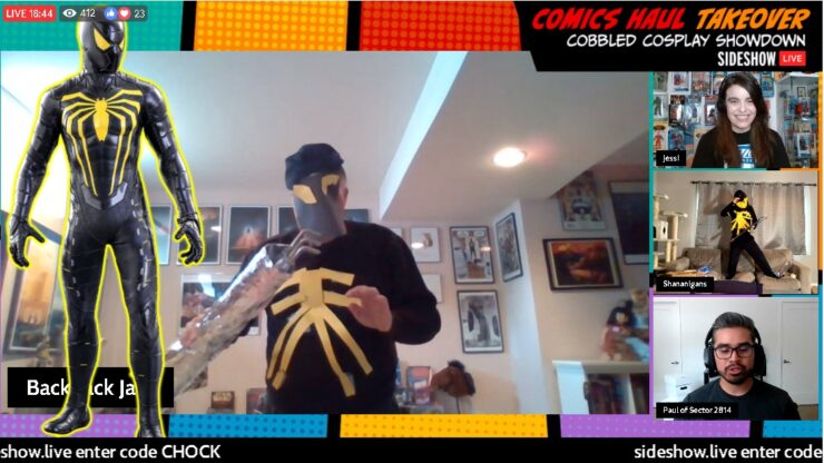 Jack C. Cobbled Cosplay - Spider-Man Anti-Ock Suit - Sideshow Comics Haul Takeover