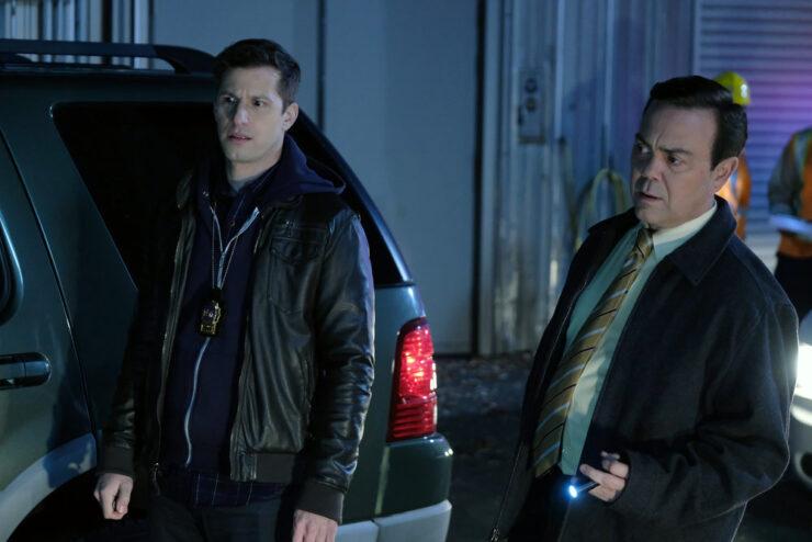 Andy Samberg and Joe Lo Truglio in Brooklyn Nine-Nine