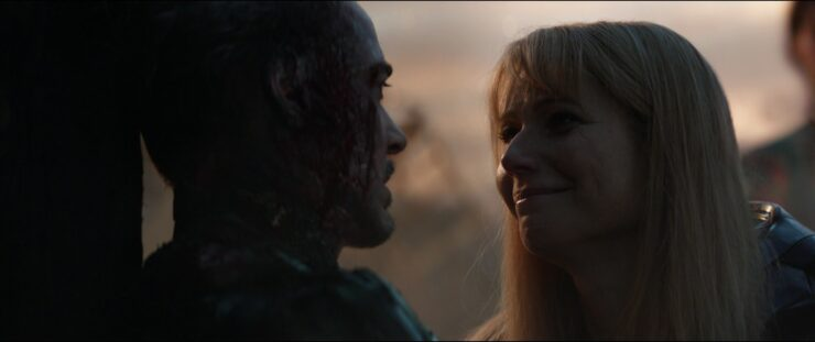 After he sacrifices himself to defeat Thanos, Pepper says goodbye to Tony in Avengers: Endgame