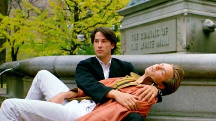 Mike Waters (River Phoenix) and Scott Favor (Johnny Utah) in My Own Private Idaho