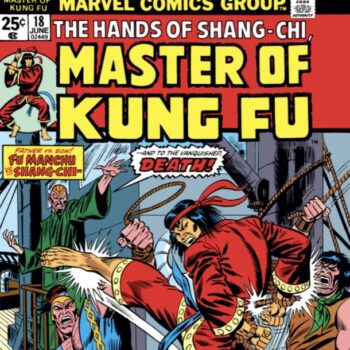 Shang-Chi, master of kung fu, as he originally appeared in Marvel comics in the 1970s