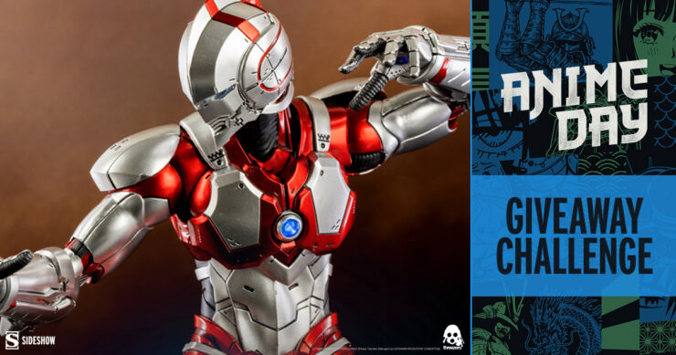 Sideshow Anime Day 2021 Giveaway Challenge Ultraman Suit (Anime Version) Sixth Scale Figure by Threezero