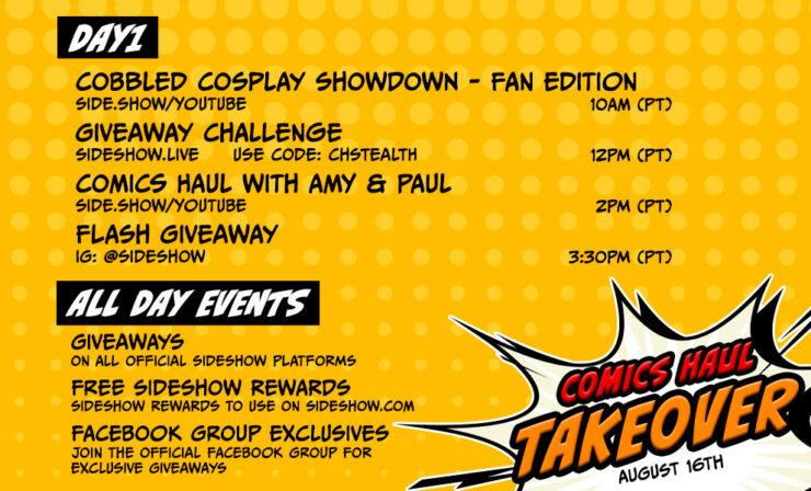 Event Schedule: Comics Haul Takeover 2021