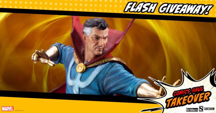 Sideshow Comics Haul Takeover Flash Giveaway Doctor Strange Statue by Kotobukiya