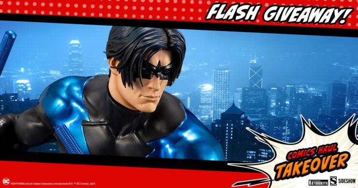 Sideshow Comics Haul Takeover Flash Giveaway Nightwing Statue by Kotobukiya