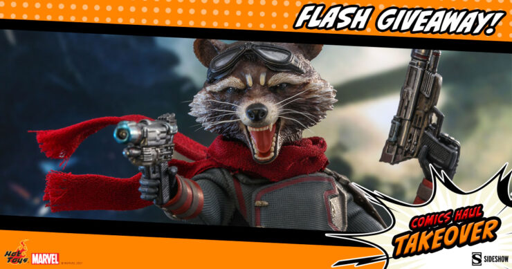 Sideshow Comics Haul Takeover Flash Giveaway Rocket Sixth Scale Figure by Hot Toys