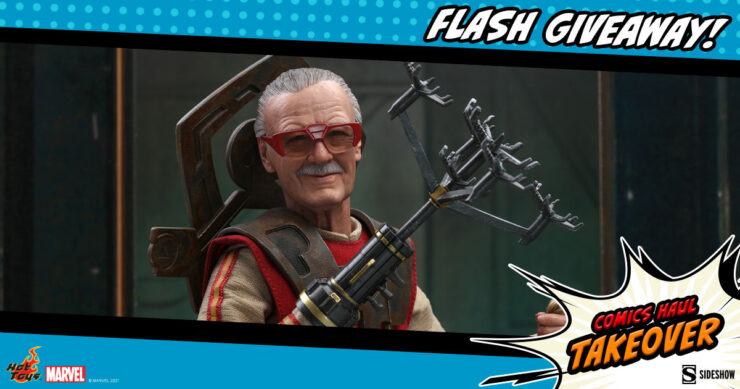 Sideshow Comics Haul Takeover Flash Giveaway Stan Lee Sixth Scale Figure by Hot Toys