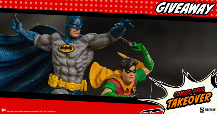 Sideshow Comics Haul Takeover Giveaway Batman & Robin Deluxe Statue by Iron Studios