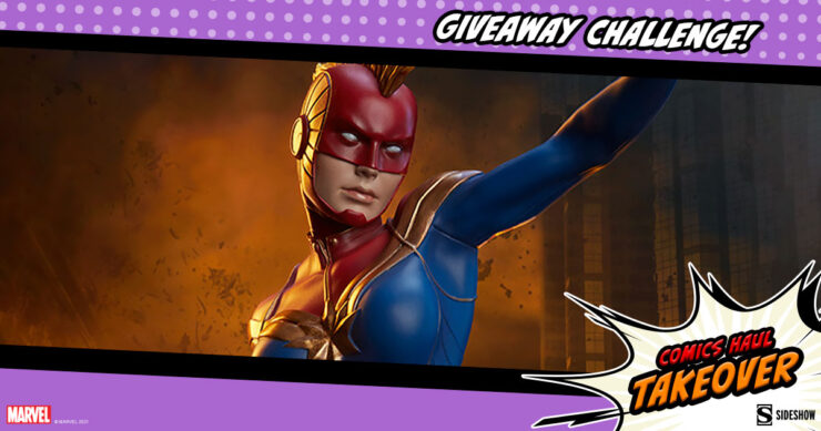 Sideshow Comics Haul Takeover Giveaway Challenge Captain Marvel Statue by Sideshow