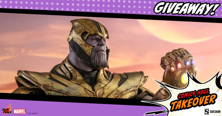 Sideshow Comics Haul Takeover Giveaway Thanos Sixth Scale Figure by Hot Toys