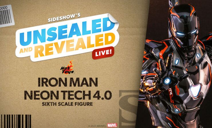 Sideshow Unsealed and Revealed LIVE Iron Man Neon Tech 4.0 Sixth Scale Figure by Hot Toys